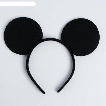 Ободок карнавальный черная мышь