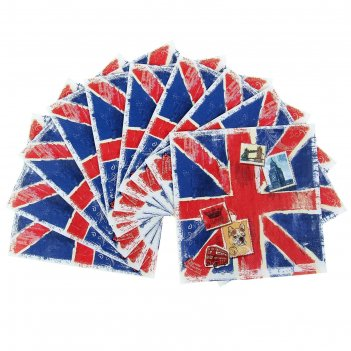 Салфетка для декупажа британский (набор 10 шт.)