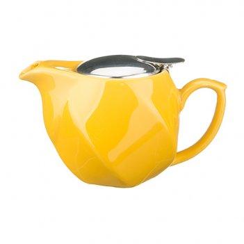 Заварочный чайник 500 мл.желтый (кор=24шт.)