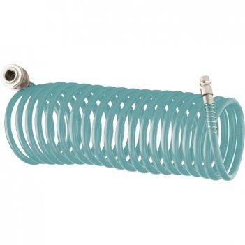 Полиуретановый спиральный шланг профессиональный basf, 10 м, с быстросъемн