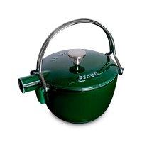 Чайник , объем: 1,15 л, диаметр: 16,5 см, материал: чугун, цвет: зеленый б