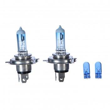 Лампа автомобильная h4 12v- 60/55w philips white vision 2 шт.