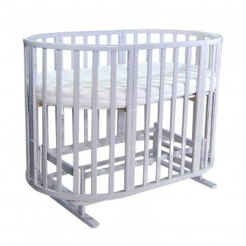 Кроватка детская everflo allure gray 7 в 1 с маятником es-008