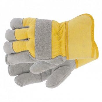 Перчатки спилковые комбинированные, усиленные, утолщенные, размер xl сибрт