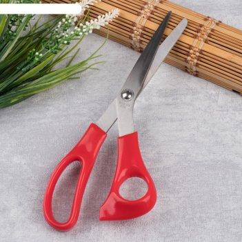 Ножницы закройные, скошенное лезвие, 22,5 см, цвет микс