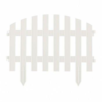 Забор декоративный винтаж 28 x 300 см, белый россия palisad
