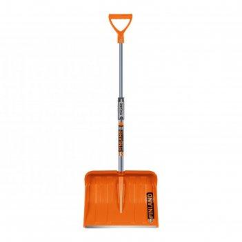 Лопата пластиковая, ковш 325 x 415 мм, с металлической планкой, металличес