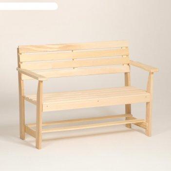 Скамейка с подлокотником, наличник 120x55x90см добропаровъ
