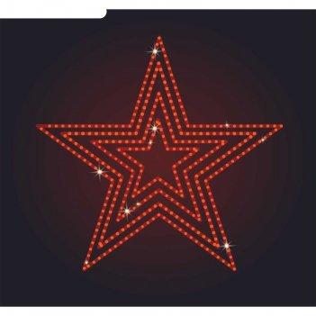 Светодиодное панно звезда пятиконечная №2, 1000х1050х30 мм, 30 вт