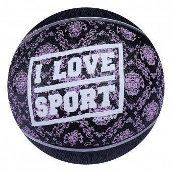 Мяч баскетбольный onlitop i love sport, размер 6, pvc, бутиловая камера, 4