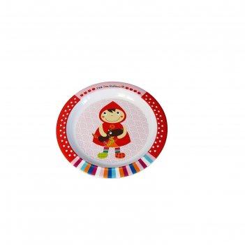 Тарелочка ebulobo «красная шапочка»