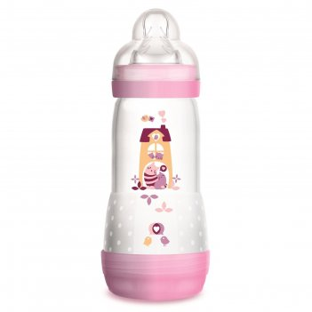 Бутылочка для кормления easy start, 320 мл., цвет розовый, от 4 мес.