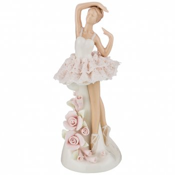 Статуэтка балерина 9*9*20 см. серия фарфоровые кружева (кор=18шт.)