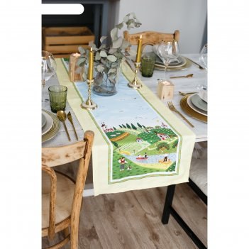 Дорожка на стол тоскана 40*146 см, 100% хл, саржа 190гр/м2