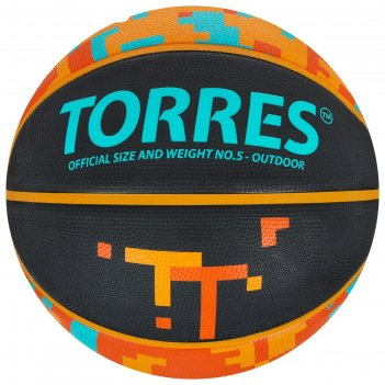 Мяч баск. torres tt арт. b02125,  р.5, резина, нейлон. корд, бут. кам., че