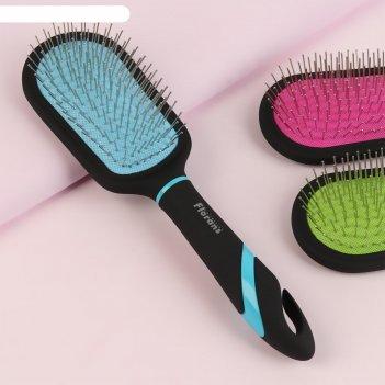 Щетка массажная для волос, цвета микс