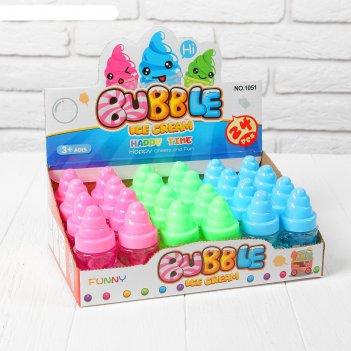 Мыльные пузыри мороженка, 40 мл, цвета микс
