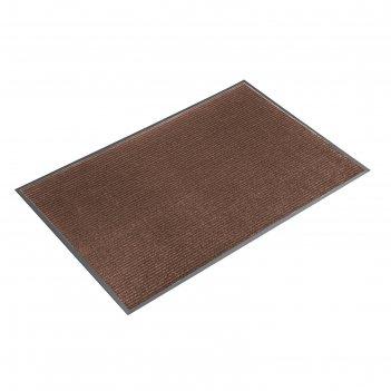 Коврик влаговпитывающий ребристый 80х120 см стандарт цвет коричневый