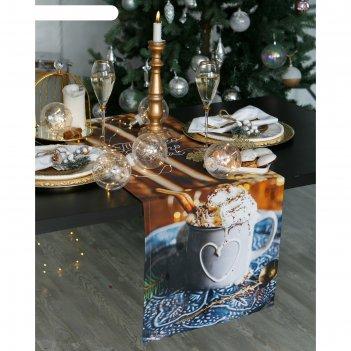 Дорожка на стол этель теплого нового года 40х147 см, 100% хл, саржа 190 гр