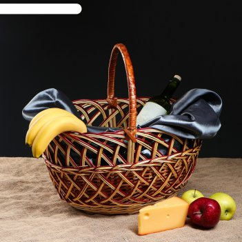 Корзина плетеная ажурная, 45 х 37 х 45 см
