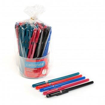 Ручка шариковая, 0.5 мм, стержень синий, корпус с прозрачным держателем, м
