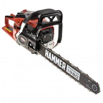 Бензопила hammer bpl4518c, 2 квт/2.7 л.с., 45 см3, 18, паз 1.5 мм, шаг 0.3
