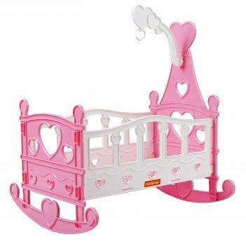 Кроватка-качалка сборная для кукол №3 (8 элементов  в пакете) 62079  микс