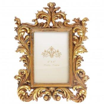 Фоторамка полистоун 10х15 см эльзас золотая патина 27х20 см