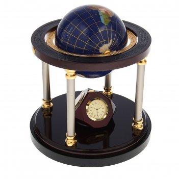 Набор настольный 4в1(глобус, гидрометр,термометр, часы) 18*29см