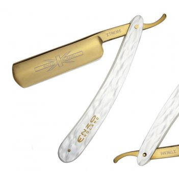 Опасная бритва enzo england classic перламутр ручка, золотое лезвие (19x4с