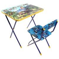 Набор детской мебели маша и медведь. ловись рыбка складной: стол, стул мяг