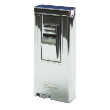 Ca-3083 зажигалка caseti газовая турбо, хром с насечкой case