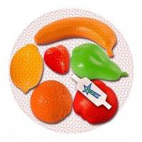Набор фрукты, 6 предметов в сетке