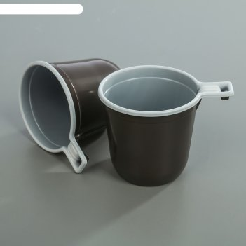 Чашка кофейная 200 мл, цвет бело-коричневый