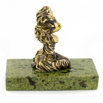 Статуэтка знак зодиака дева бронза змеевик