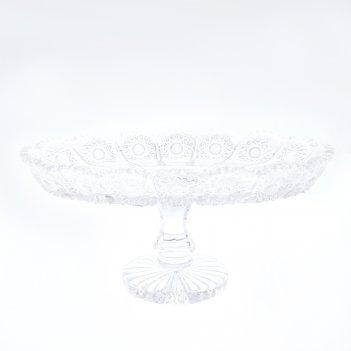 Фруктовница на ножке bohemia glasspo 25 см