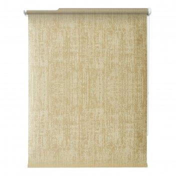 Рулонная штора блэкаут «кембридж», 80х175 см, цвет золотой