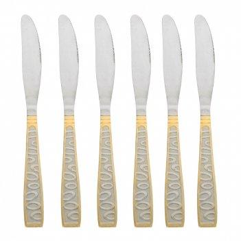 Набор столовых ножей 6 штук золотая легенда l=22см. (нержавеющая сталь) (у