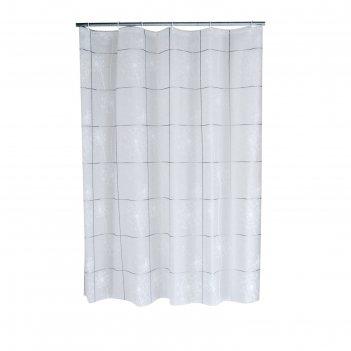 Штора для ванных комнат moonflower, цвет серый, 180х200 см