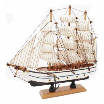 Модель парусника бригантина 23 х 23,5 х 6 см