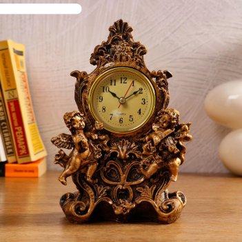 Часы настольные дуэт ангелов, 1 аа, дискретный ход,  13х10х20.5 см