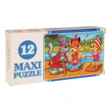 Макси-пазл «сказки», 12 элементов, микс