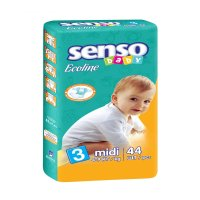 Подгузники senso baby ecoline, midi 3 (4-9 кг) 44 шт.