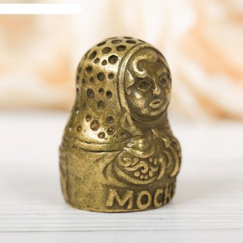 Наперсток сувенирный «москва» латунь, 2,2 х 3 см