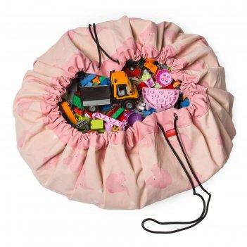 Игровой коврик-мешок для хранения игрушек 2 в 1 play go, коллекция designe