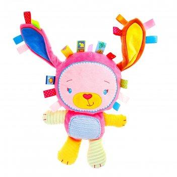 Подвеска - игрушка для кроватки/коляски с погремушкой зайчик