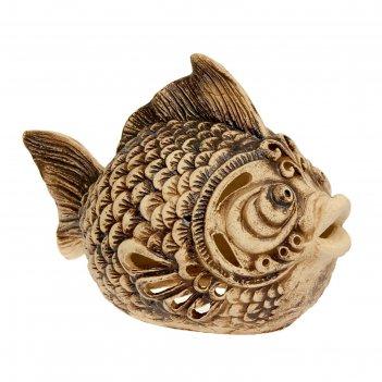 Садовый светильник рыба шамот