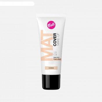Матирующий флюид bell mat   cover make-up, стойкий эффект, тон 03