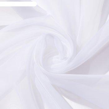 Тюль «этель» 140x300 см, цвет белый, вуаль, 100% п/э