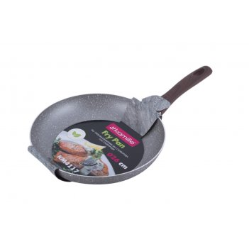 Сковорода 26 см. kamille km-4117 с антипригарным покрытием grey marble из